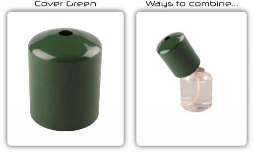457fdeadece Fundas verdes para las velas de parafina líquida - VelasHosteleria